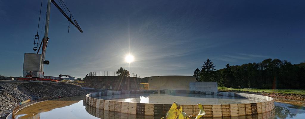 Visite du chantier de biométhanisation d'Ochain ce 20 Novembre