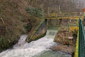 Vue aval barrage