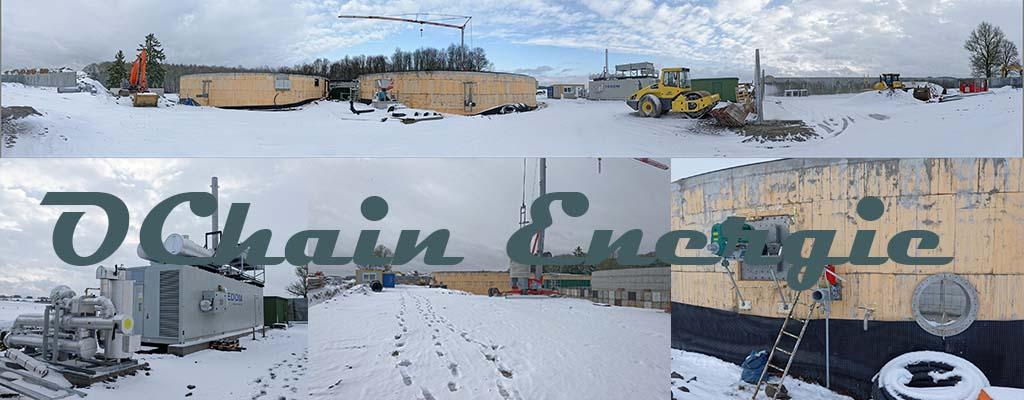 Chantier d'Ochain sous la neige