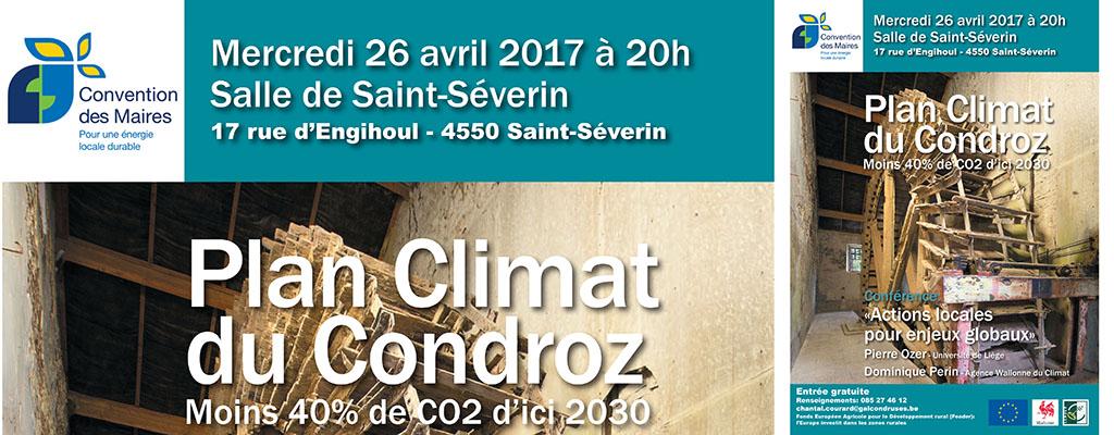Conférence: Plan climat du Condroz