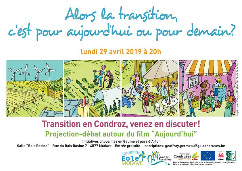 La Transition en Condroz : film + débat le 29 avril 20h à Modave